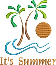 Island Summer embroidery design
