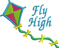 Fly High Kite embroidery design