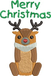 Merry ChristmasLittle Deer embroidery design