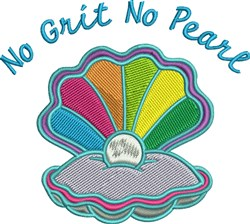 No Grit No Pearl Oyster embroidery design