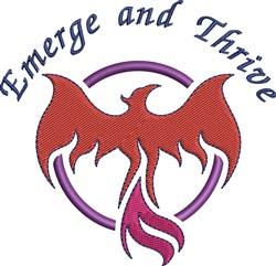 Phoenix Bird Emerge And Thrive embroidery design