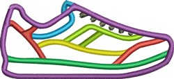 Running Shoe embroidery design