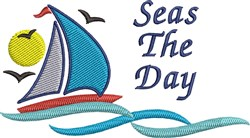 Seas The Day Sailing embroidery design