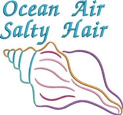 Ocean Air Salty Hair embroidery design
