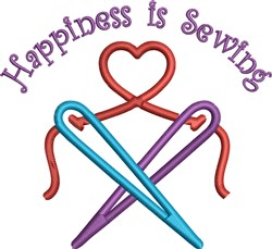 Happiness Is Sewing embroidery design