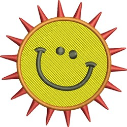 Smiley Sun embroidery design