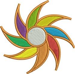 Sunwheel embroidery design