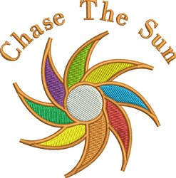 Chase The Sun Sunwheel embroidery design