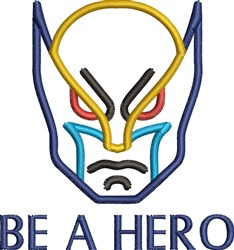Be A Super Hero embroidery design