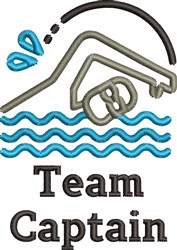 Swimming Team Captain embroidery design