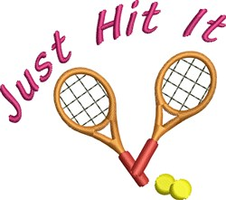 Just Hit It Tennis Rackets embroidery design