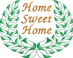 Home Sweet Home Wreath Decoration embroidery design