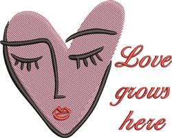 Love Grows Here embroidery design