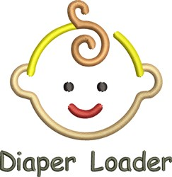 Diaper Loader embroidery design