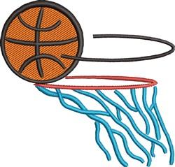 Basketball Hoop embroidery design