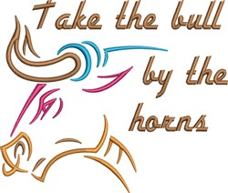 Bull By The Horns embroidery design