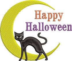 Happy Halloween Cat embroidery design