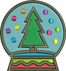 Christmas Tree Globe embroidery design