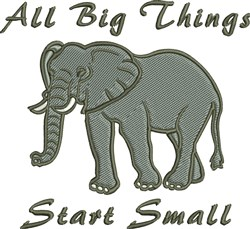 All Big Things embroidery design