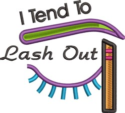 Lash Out embroidery design