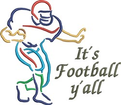 Football Yall embroidery design