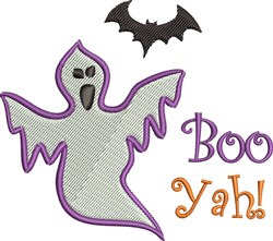 Boo Yah embroidery design