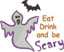 Be Scary embroidery design