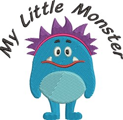 My Little Monster embroidery design
