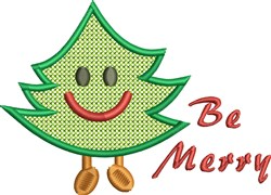 Be Merry Tree embroidery design
