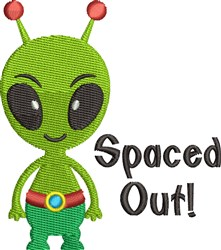 Spaced Out embroidery design