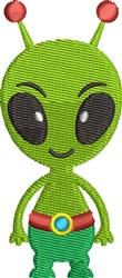 Little Green Man embroidery design