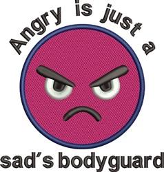Sad Bodyguard embroidery design