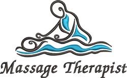 Massage Therapist embroidery design