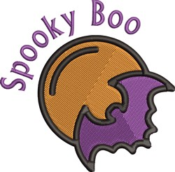 Spooky Boo embroidery design