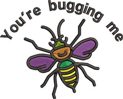 Bugging Me embroidery design