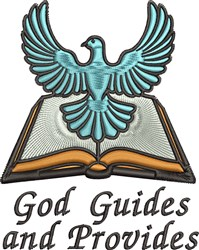 God Guides embroidery design