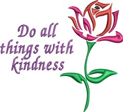 With Kindness embroidery design