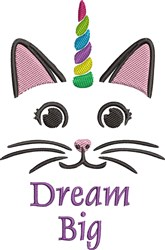 Dream Big embroidery design