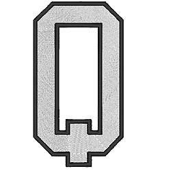 College Block Q embroidery design