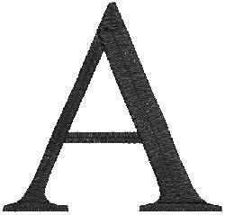 Alpha embroidery design