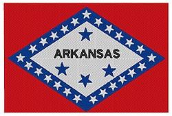 Arkansas Flag embroidery design