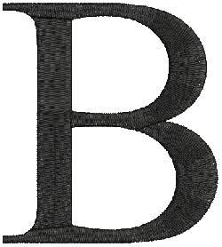 Beta embroidery design