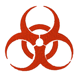 Biohazard Sign embroidery design