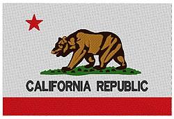 California Flag embroidery design