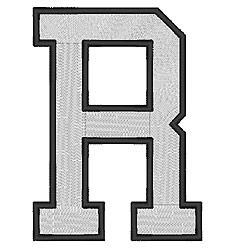 College Block R embroidery design