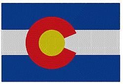 Colorado Flag embroidery design