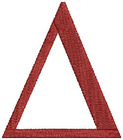 Delta embroidery design