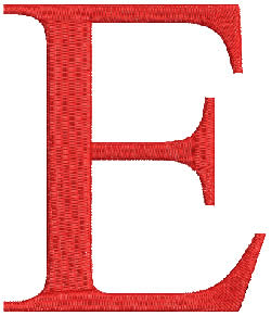 Epsilon embroidery design