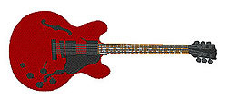Gibson ES335 embroidery design