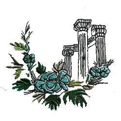 Columns embroidery design